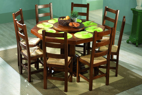 French Country Oak Dining Table - octagonal table 160cm