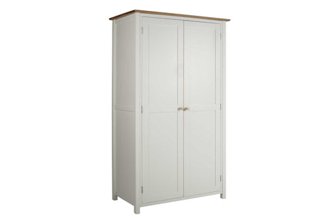 European Painted Oak Bedroom Range - wardrobe - double