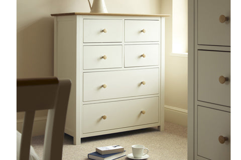 European Painted Oak Bedroom Range - chest of drawers - 6 drawer - 4 over 2
