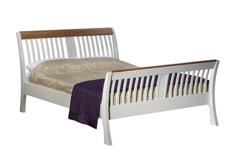 European Painted Oak Bedroom Range - bed - standard double