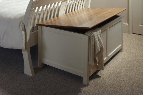 European Painted Oak Bedroom Range - blanket box