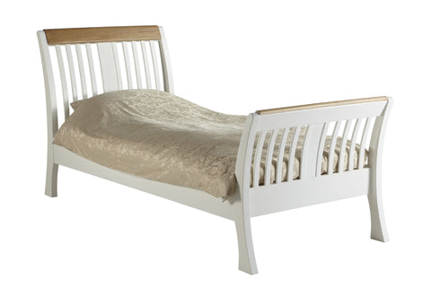 European Painted Oak Bedroom Range - bed - single size