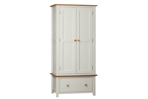 European Painted Oak Bedroom Range - wardrobe - small double with drawer