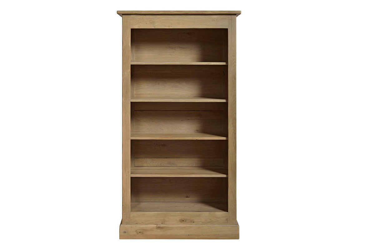 French Mountain Oak Studio Range Bookcase Wide And Tall