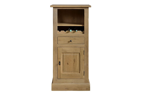 French Mountain Oak - Studio Range bookcase - low with cupboard