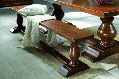 French Country Oak - Dining Bench - turned leg Monastery