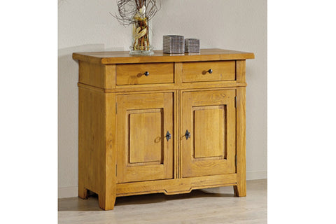 French Mountain Oak - Villages Range sideboard 2 door