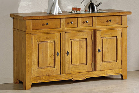 French Mountain Oak - Villages Range sideboard 3 door