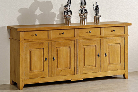 French Mountain Oak - Villages Range sideboard 4 door