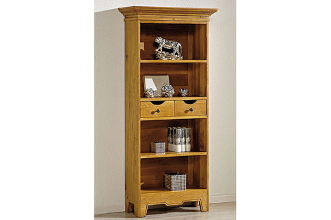French Mountain Oak - Villages Range Bookcase - narrow and tall