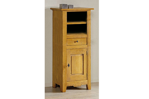 French Mountain Oak - Villages Range Bookcase - low with cupboard