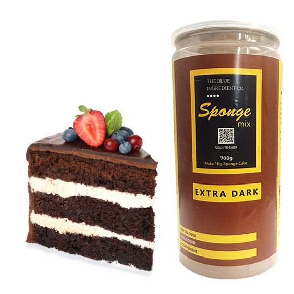 Buy Now 👉 Sponge Mix Chocolate Dark ; Chocolate Cake Premix - select pack size by #BlueIngredients #IngrediWare