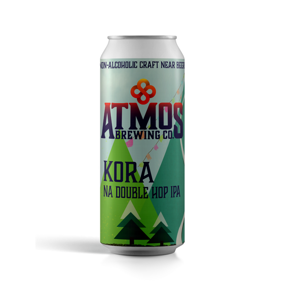 Atmos Brewing Co. Kora NA Double Hop IPA (<0.5% ABV | 12-Pack | 16oz.)