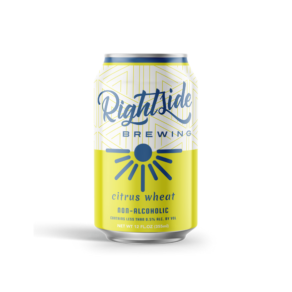 Rightside Brewing Citrus Wheat (<0.5% ABV | 12-Pack | 12oz.)