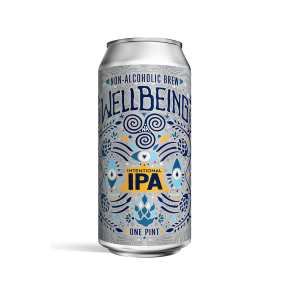 WellBeing Intentional IPA (<0.5% ABV | 4-Pack | 16oz.)
