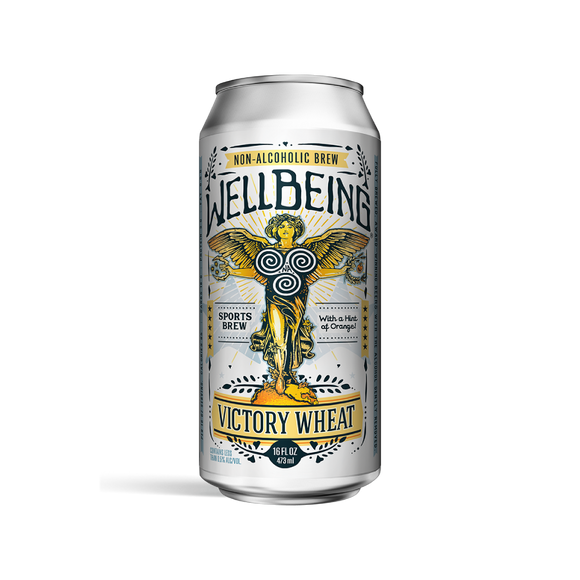 WellBeing Victory Citrus Wheat + Electrolytes (<0.5% ABV | 4-Pack | 16oz.)