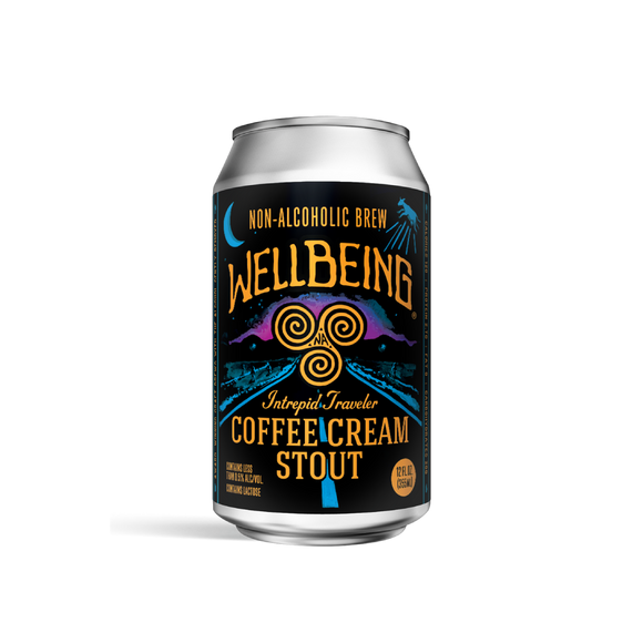 WellBeing Intrepid Traveler Coffee Cream Stout (<0.5% ABV | 12oz.)