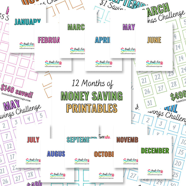 12 Months of Money Saving Challenges