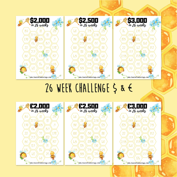 Beeutiful 26 Week Challenges