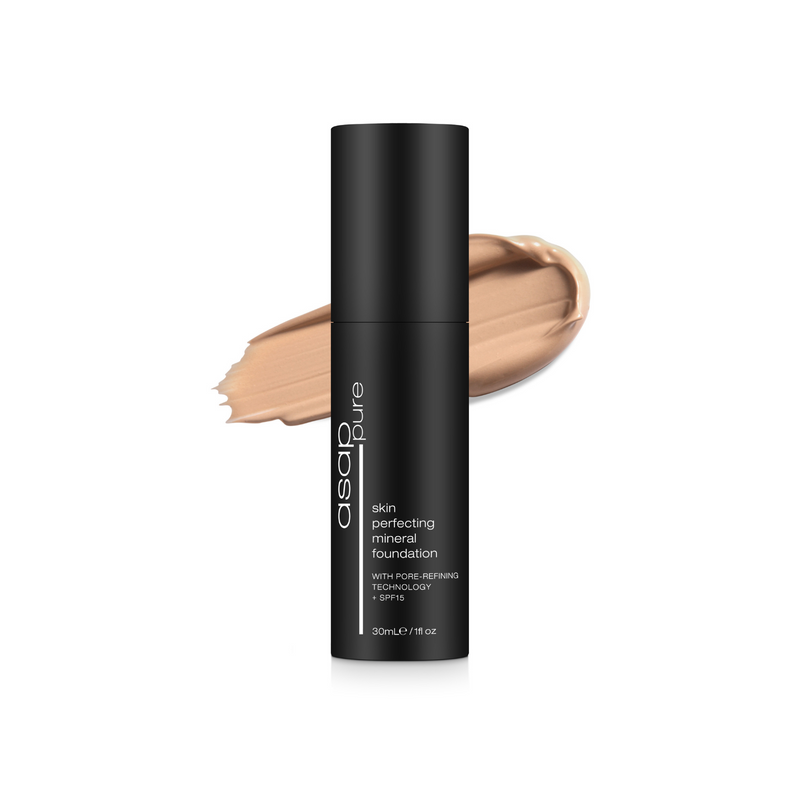Skin Perfecting Mineral Foundation with Pore-Refining Technology + SPF15 - Pure Three 30ml