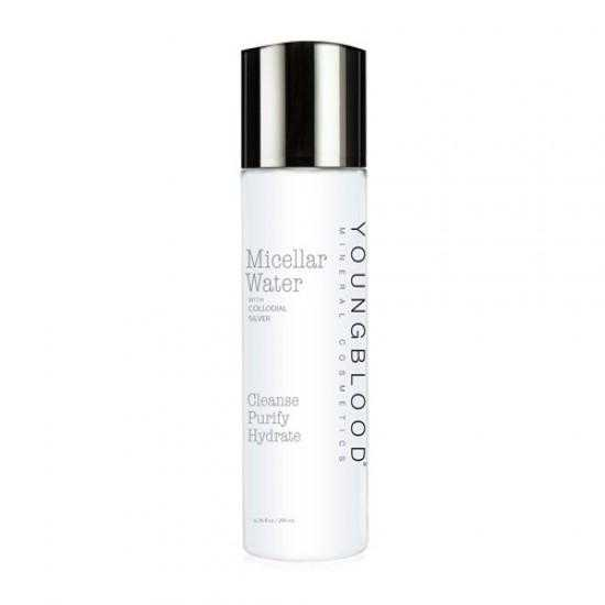 Youngblood Micellar Water with Colloidal Silver - Cleanse Purify Hydrate 200ml