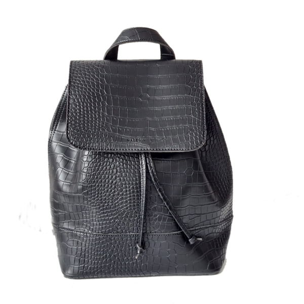 Mae & Ivy Alice Backpack – Zwart Croco