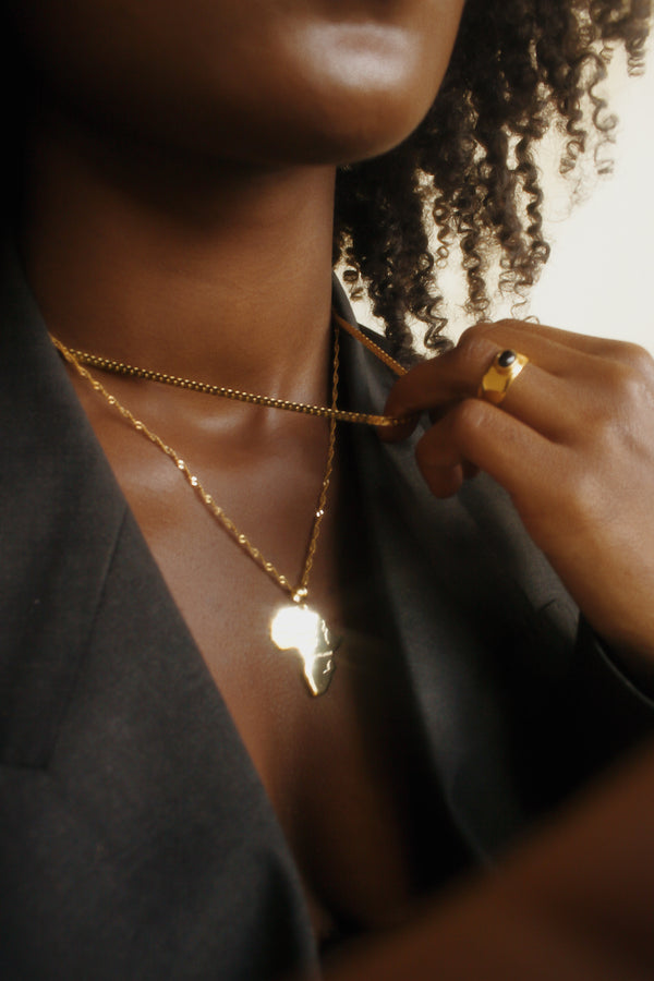 Electric Jewelry Africa gold necklace