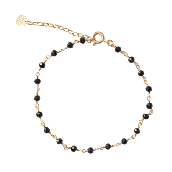 A Beautiful Story Harmony Black Onyx Gold Plated