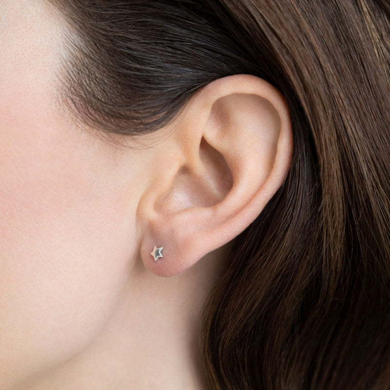 Star Earring -Gold plated | Sustainable Jewelry