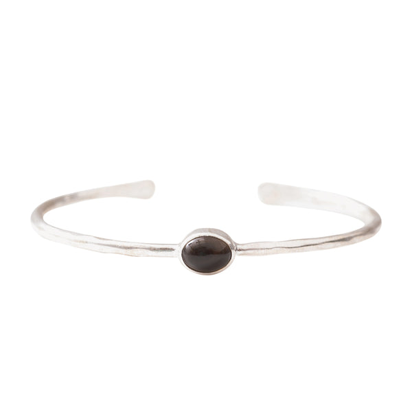 A Beautiful Story Moonlight Smokey Quartz Silver bracelet