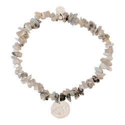 Duurzame sieraden | A Beautiful Story Power Labradorite Lotus Silver Bracelet