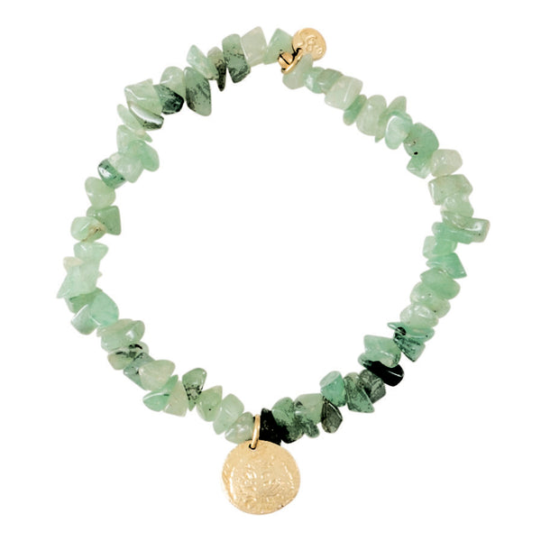 Duurzame sieraden | A Beautiful Story Power Aventurine Tree Gold Bracelet