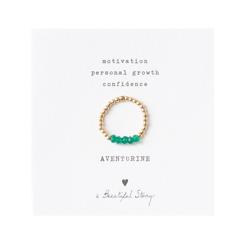 Duurzame Sieraden | A Beautiful Story Beauty Aventurine Gold Ring