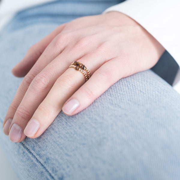 Duurzame Sieraden | A Beautiful Story Sparkle Tiger Eye Gold Ring