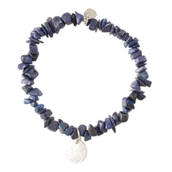A Beautiful Story Power Lapis Lazuli Dragonfly Silver Bracelet