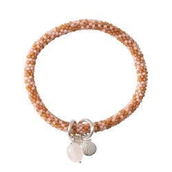 Duurzame sieraden | A Beautiful Story Jacky Multi Color Rose Quartz Silver Bracelet