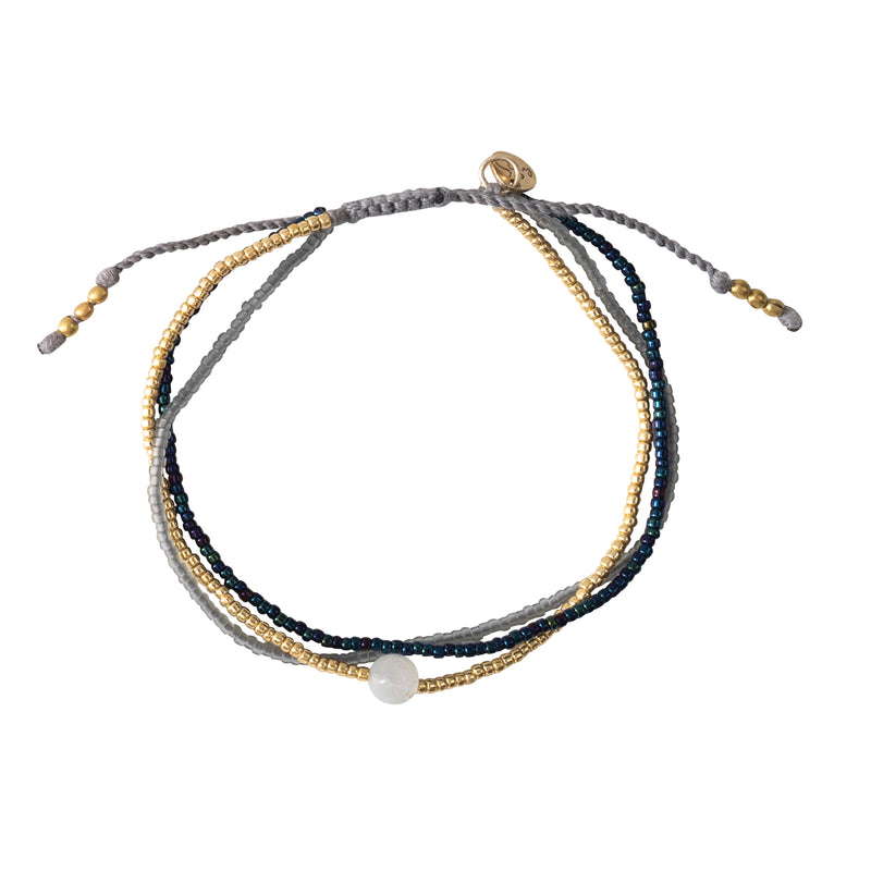A Beautiful Story Bloom Moonstone Gold Bracelet