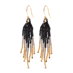 Black Onyx Gold Earrings | Sustainable Jewelry