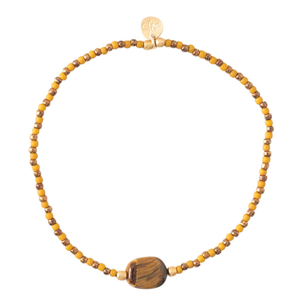 A Beautiful Story Winter Tiger Eye Gold Bracelet