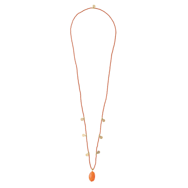A Beautiful Story Charming Carnelian Gold Necklace