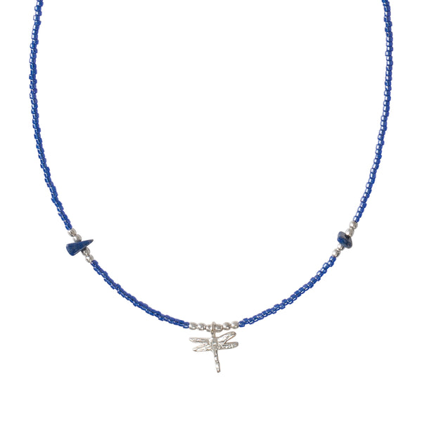A Beautiful Story Wildflower Lapis Lazuli Silver necklace