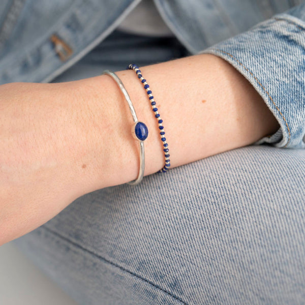 A Beautiful Story Beautiful Lapis Lazuli Silver Bracelet