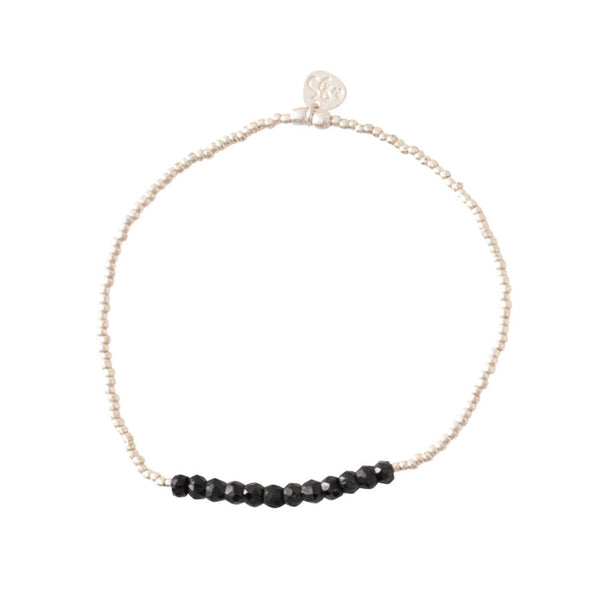A Beautiful Story Refined Black Onyx Silver Bracelet