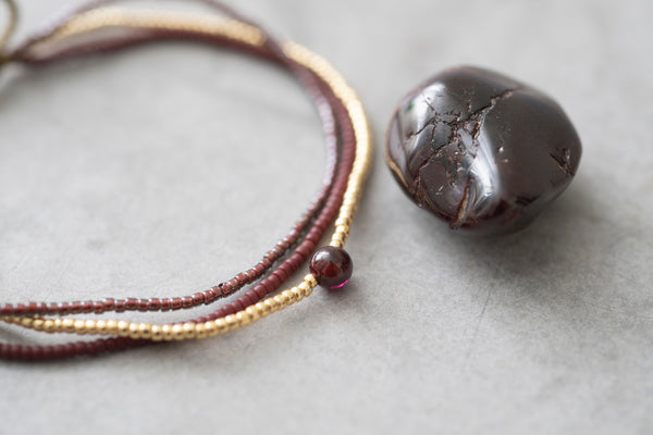 A Beautiful Story Bloom Garnet Gold Bracelet