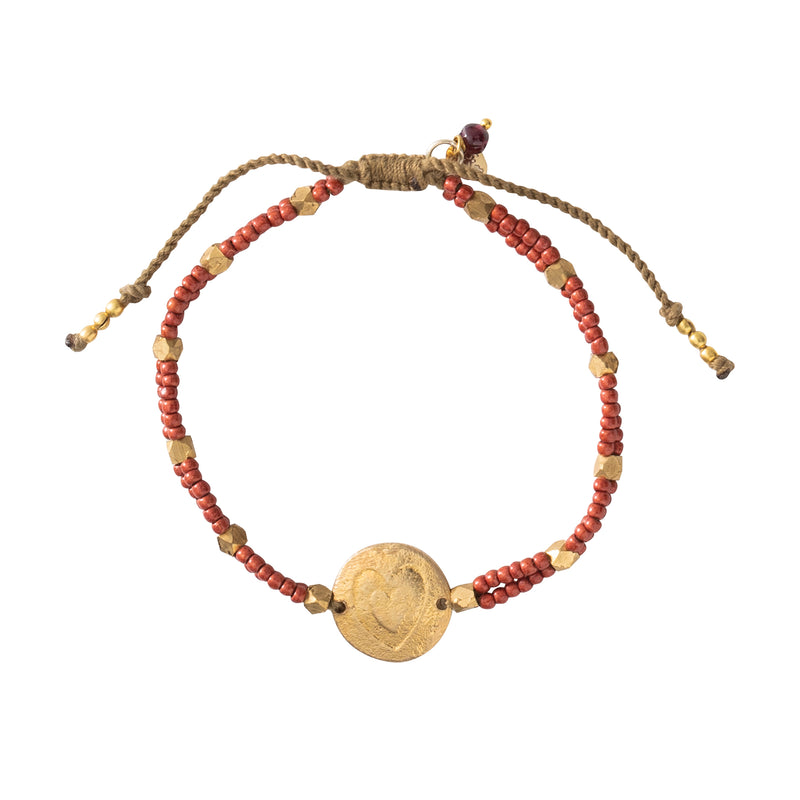 A Beautiful Story Gratitude Garnet Gold Bracelet