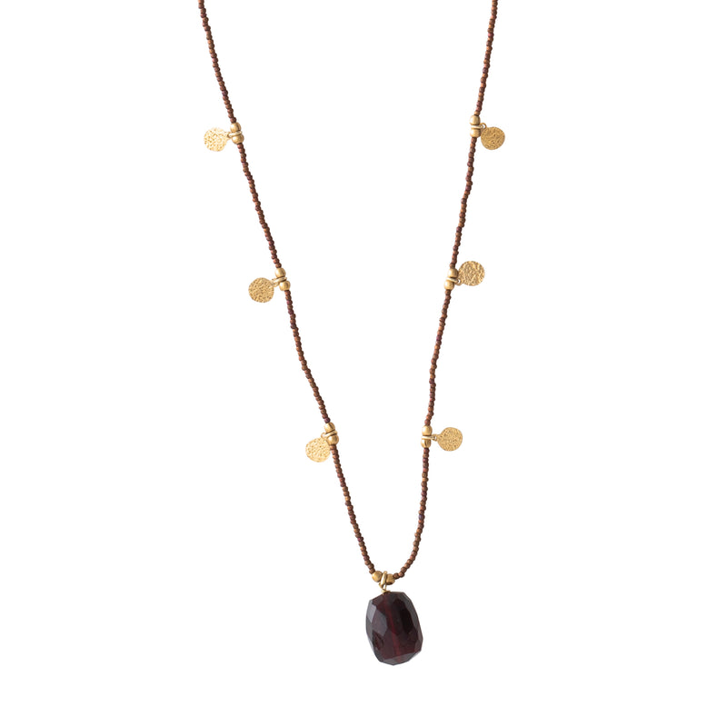 Garnet Gold Necklace | Sustainable jewelry