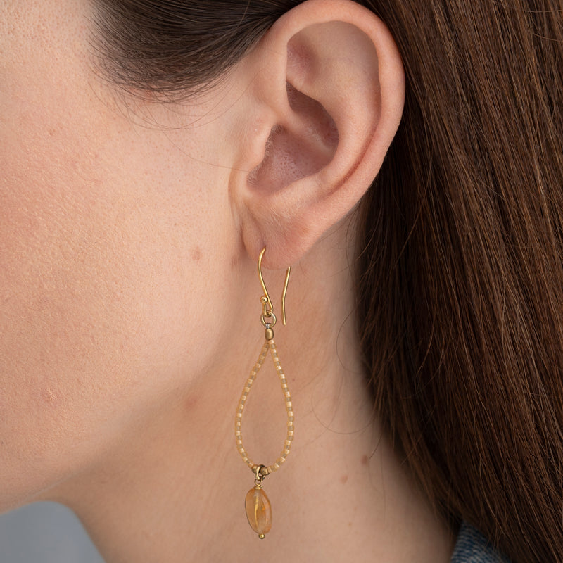 Magical Citrine Gold Earrings | Sustainable Jewelry