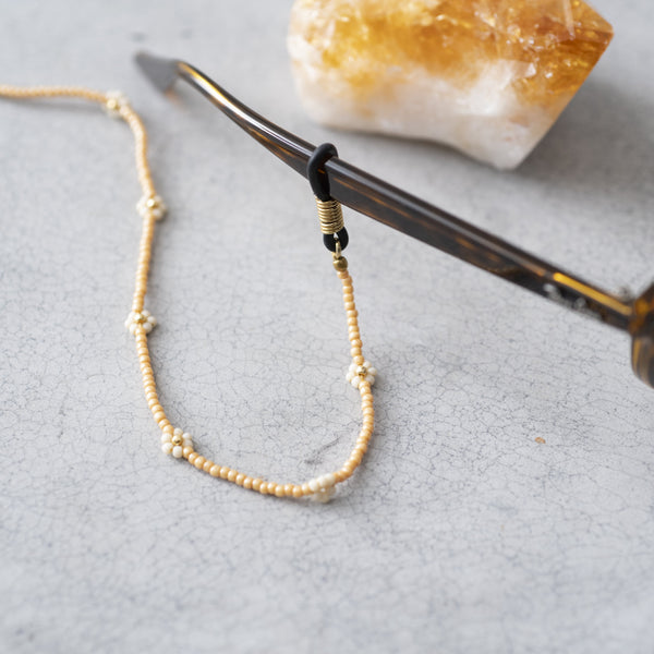 Duurzame Mode | A Beautiful Story Flower Citrine Gold Glasses Cord