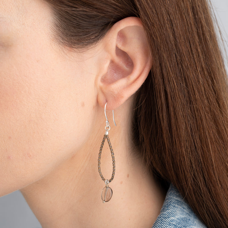 Smokey Quartz Silver Earrings | Sustainable Jewelry