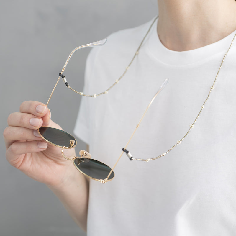 Duurzame Mode | A Beautiful Story Flower Smokey Quartz Silver Glasses Cord
